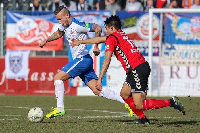 21. Spieltag; SG Sonnenhof Großaspach – Hansa Rostock