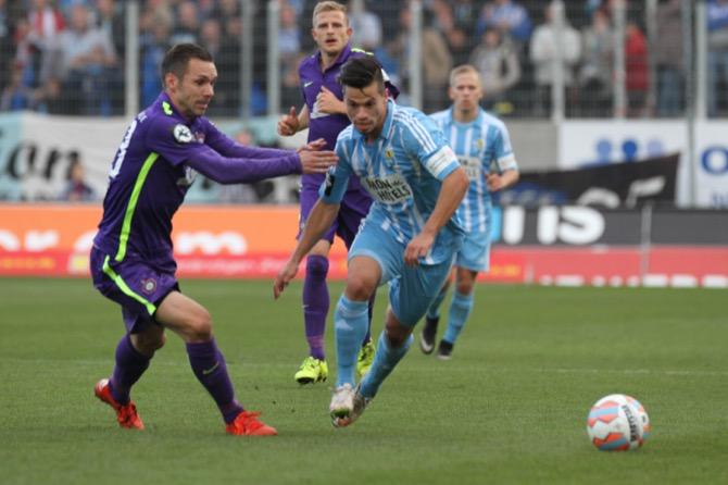 Aue siegt im Derby gegen Chemnitz - Spielbericht + Bilder