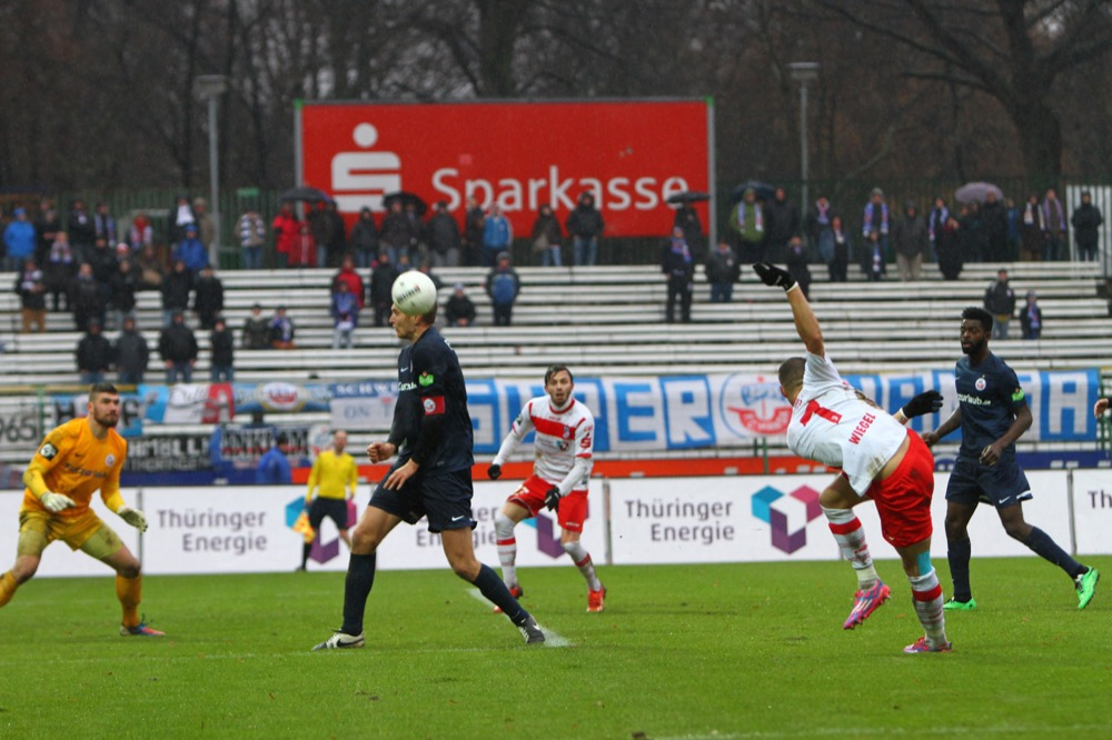 Erfurt gegen Rostock am 21. Spieltag (Huebner/Voigt)