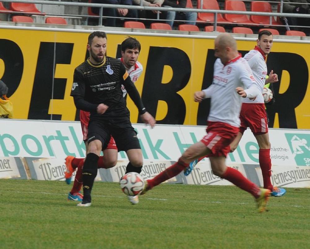 25. Spieltag; Hallescher FC - SpVgg Unterhaching