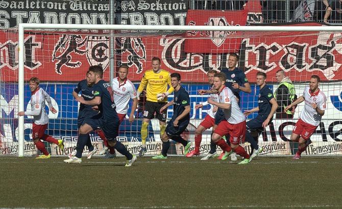 Hansa Rostock dreht Rückstand in Halle - Spielbericht