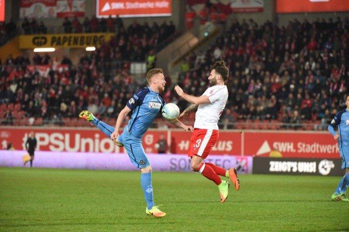 2. Spieltag; VfR Aalen – Hallescher FC