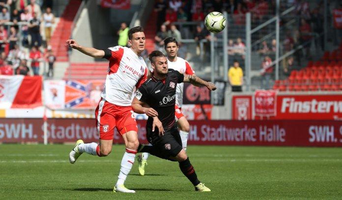 34. Spieltag 17/18: Hallescher FC - Würzburger Kickers