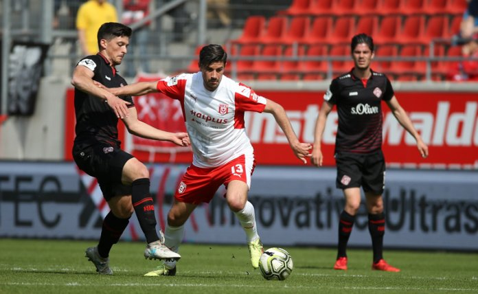 34. Spieltag 17/18: Hallescher FC - Würzburger Kickers - Bild