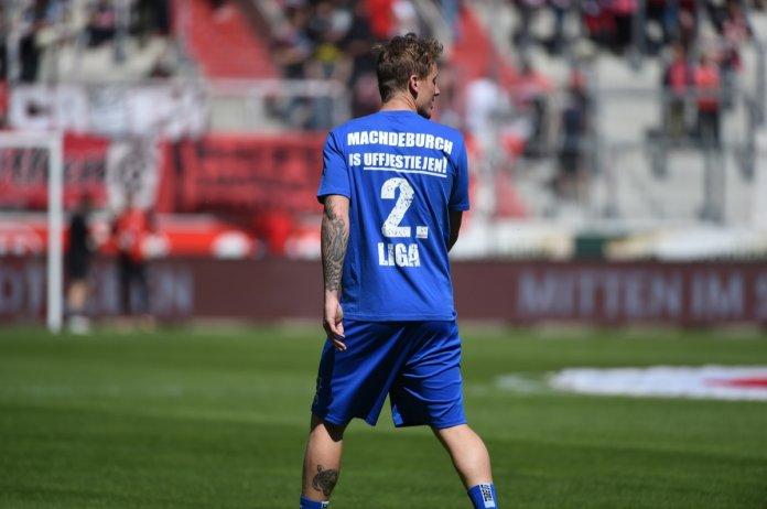 36. Spieltag 17/18: Hallescher FC - 1. FC Magdeburg - Bild