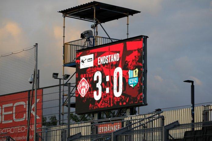 34. Spieltag 19/20: Würzburger Kickers - Chemnitzer FC - Bild