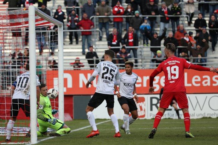 20. Spieltag 17/18: Würzburger Kickers - SV Meppen - Bild