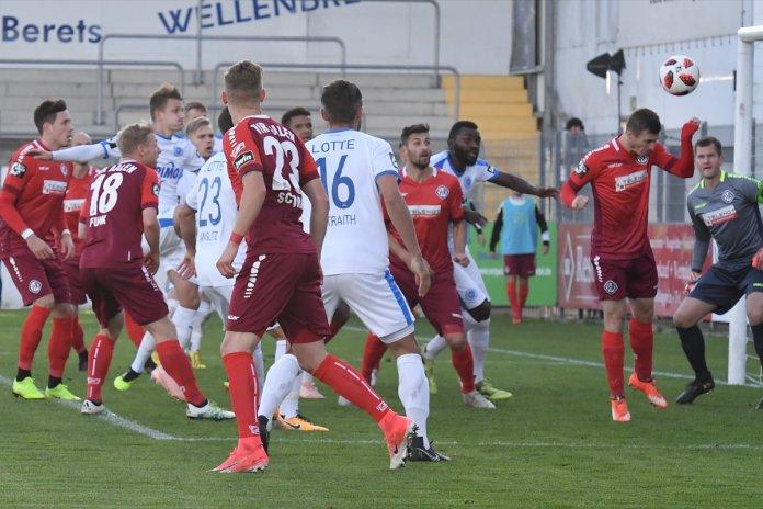 14. Spieltag 18/19: Sportfreunde Lotte - VfR Aalen - Bild