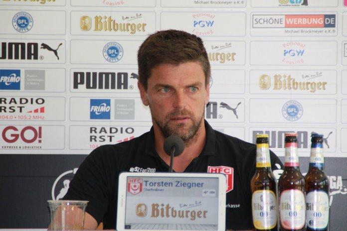 5. Spieltag 18/19: Sportfreunde Lotte - Hallescher FC - Bild