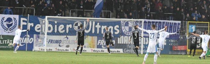 16. Spieltag 18/19: Sportfreunde Lotte - Hansa Rostock