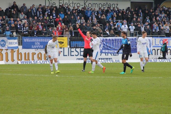 21. Spieltag 17/18: Sportfreunde Lotte - FSV Zwickau - Bild
