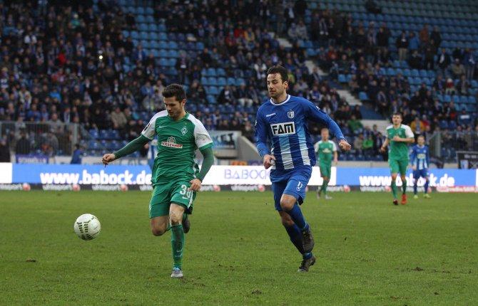 25. Spieltag; SV Werder Bremen II – 1. FC Magdeburg