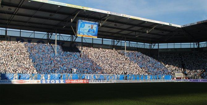 Beim Test gegen Babelsberg bleibt das Stadion leer (Foto Huebner)