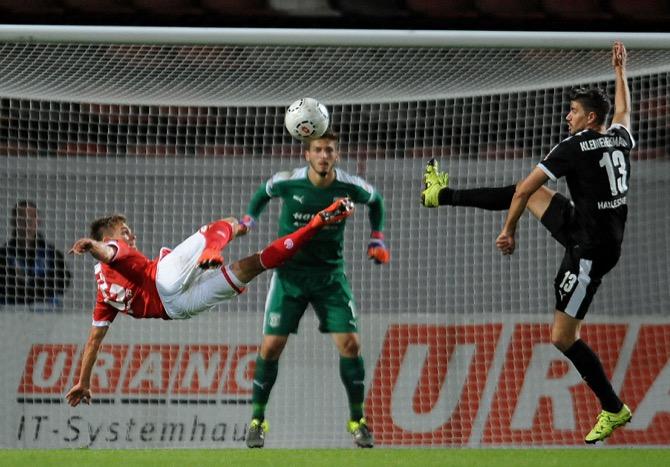 Mainz 05 II beendet Halles Serie - Spielbericht+ Bilder