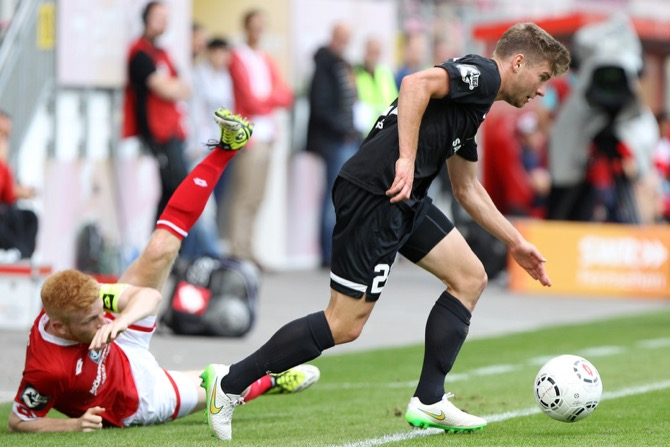 9. Spieltag; Würzburger Kickers - Hallescher FC