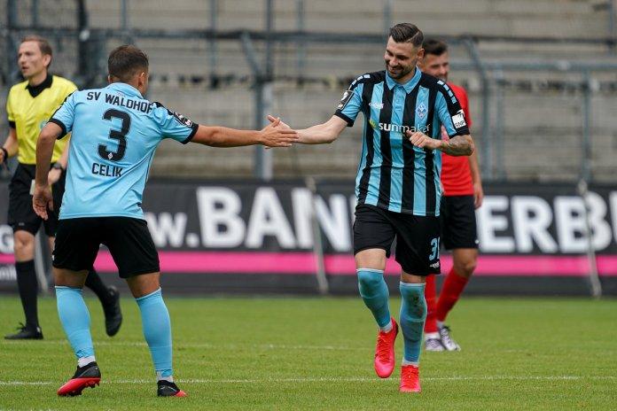 34. Spieltag 19/20: SV Waldhof Mannheim - Sonnenhof Großaspach - Bild