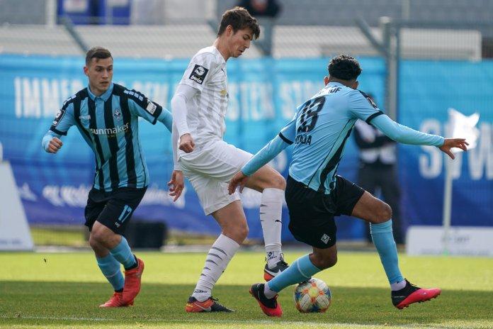 24. Spieltag 19/20: SV Waldhof Mannheim - Carl Zeiss Jena - Bild