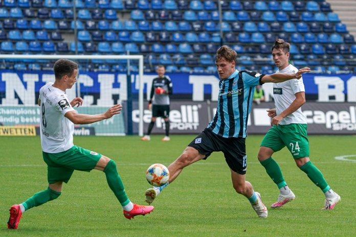 36. Spieltag 19/20: SV Waldhof Mannheim - Preußen Münster - Bild