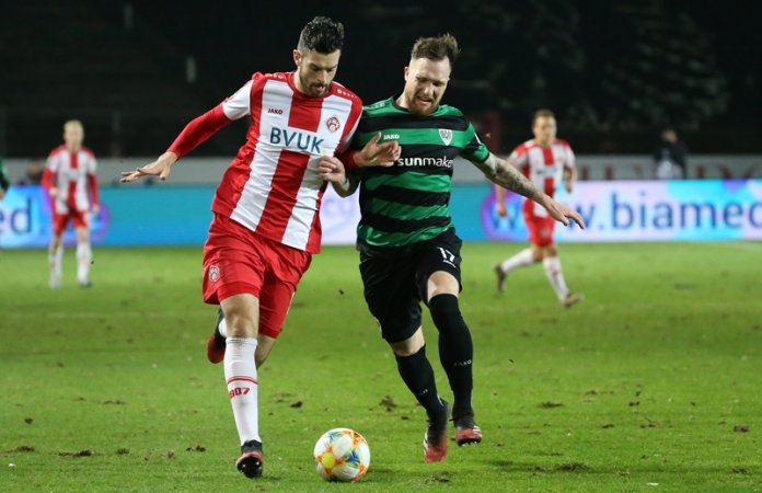 24. Spieltag 19/20: Preußen Münster - Würzburger Kickers - Bild