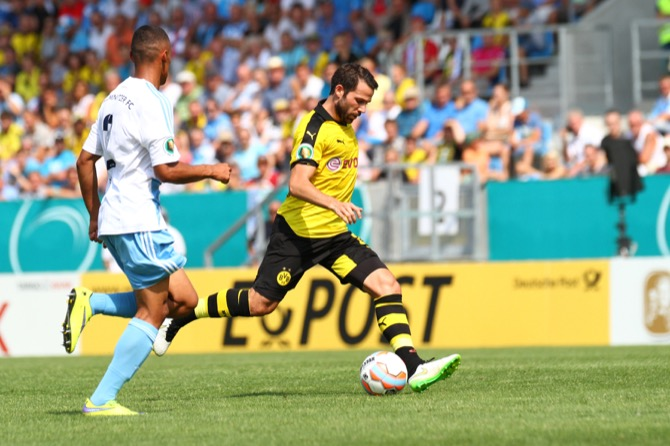 Pokal Chemnitz - Dortmund letzte Saison (Foto Huebner)