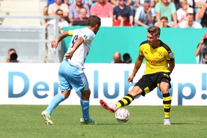 Chemnitz gegen Dortmund letzte Saison (Foto Huebner)