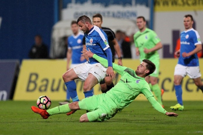 31. Spieltag 16/17: Hansa Rostock - MSV Duisburg
