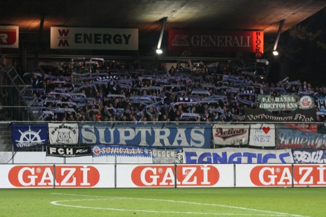 Rostock Fans am letzten Spieltag (FOTOSTAND)