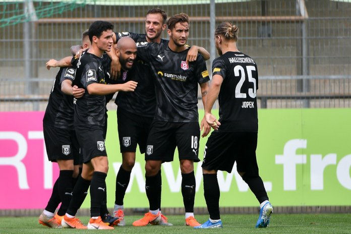 Hallescher FC nach Saisonbeginn an der Tabellenspitze der 3. Liga