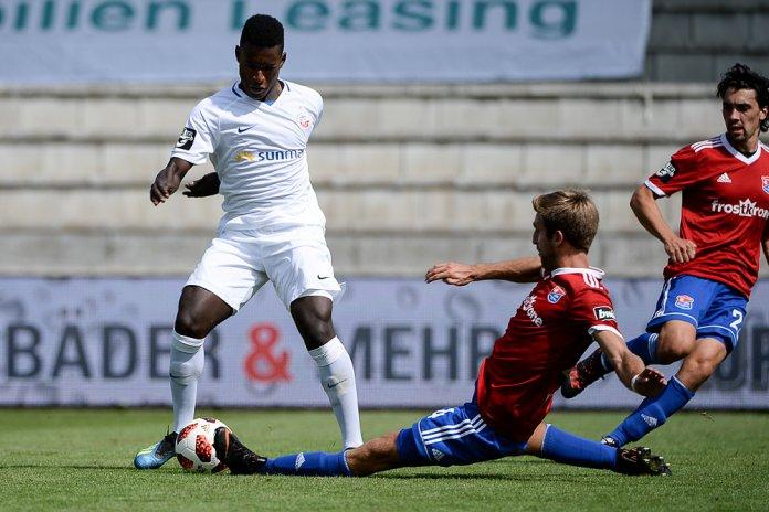 4. Spieltag 18/19: SpVgg Unterhaching - Hansa Rostock - Bild