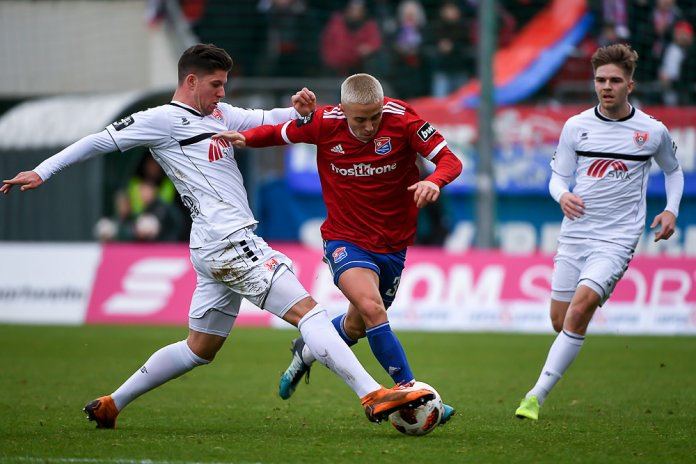 20. Spieltag 18/19: SpVgg Unterhaching - KFC Uerdingen 05 - Bild
