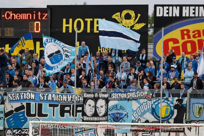 Chemnitz Fans in Würzburg (Frank Scheuring)