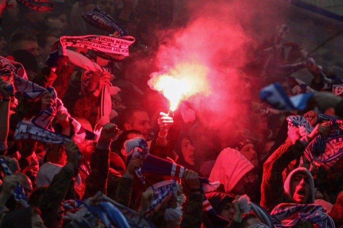 Rostock Fans in Zwickau (FOTOSTAND)