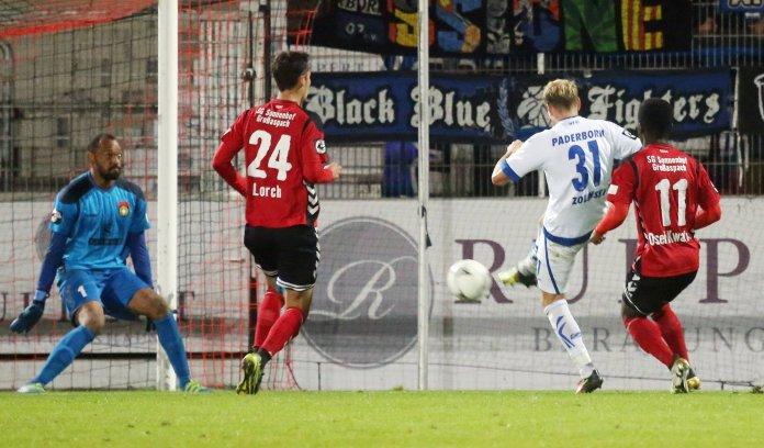 Paderborn holt drei Punkte in Großaspach – Spielbericht