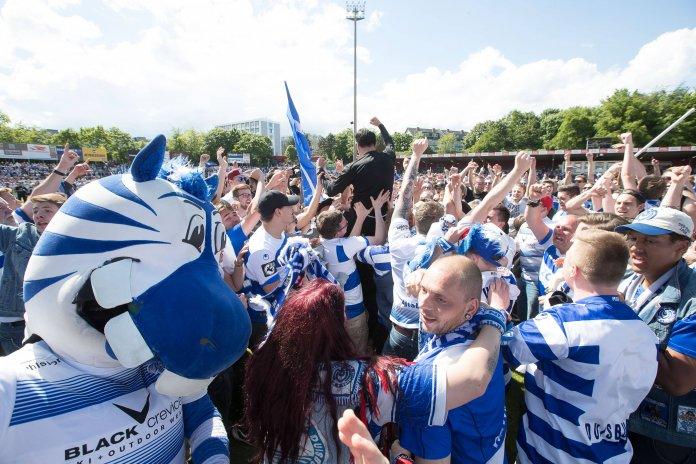 Duisburg besiegelt Wiederaufstieg – Spielbericht + Bilder