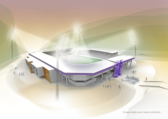Baubeginn am Sparkassen-Erzgebirgsstadion im Dezember