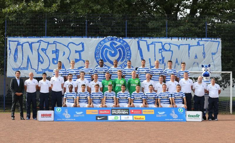 Mannschaftsfoto MSV Duisburg