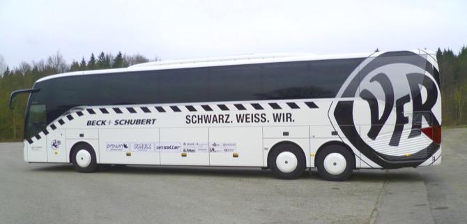 Neuer Mannschaftsbus vom VfR Aalen