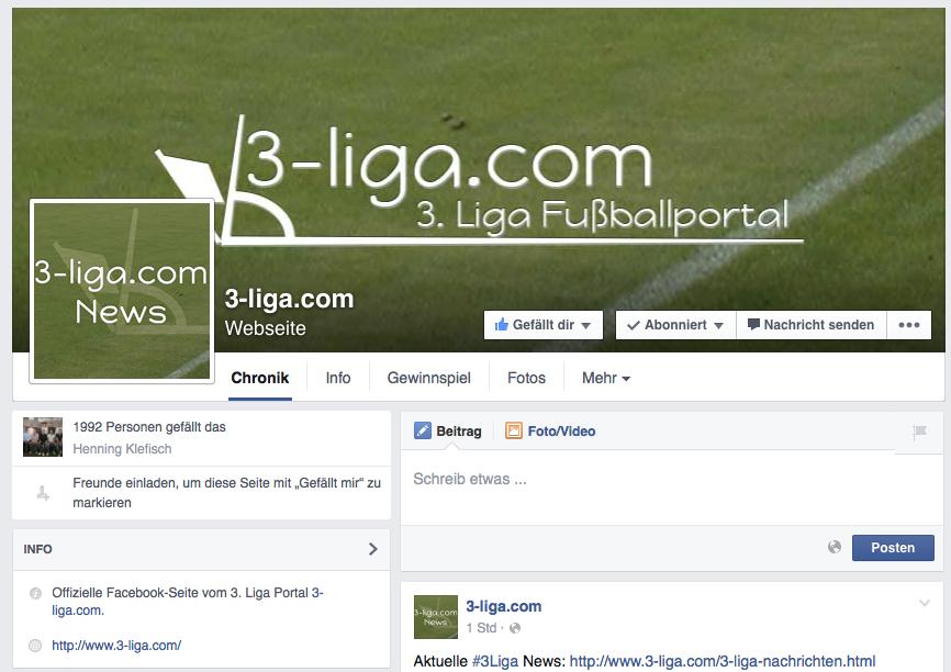 3-liga.com bei Facebook