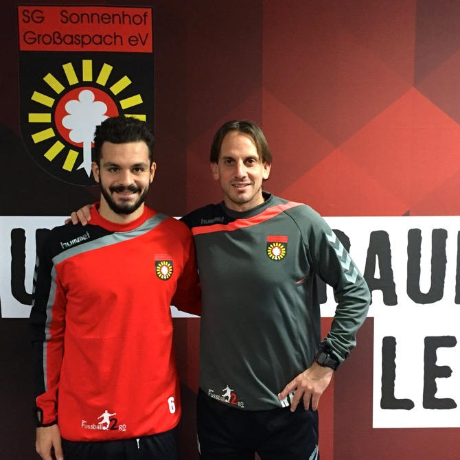 Spyros Fourlanos mit Trainer Rehm