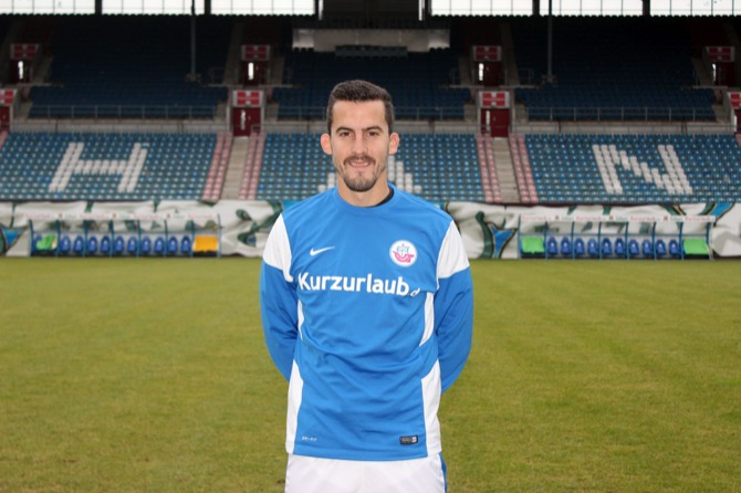 Mittelfeldspieler Anej Lovrečič zur Probe beim F.C. Hansa Rostock (Bild: F.C. Hansa Rostock)