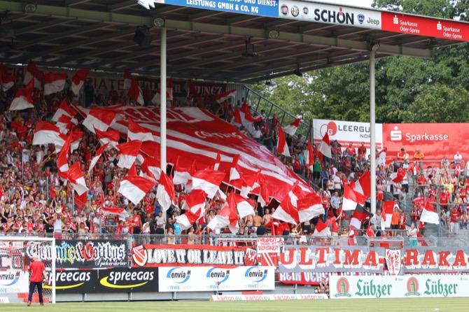 Choreo der Cottbus Fans (imago/Steffen Beyer)