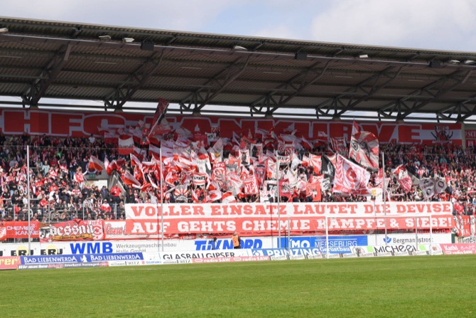 Choreo der HFC Fans (imago/foto2press)